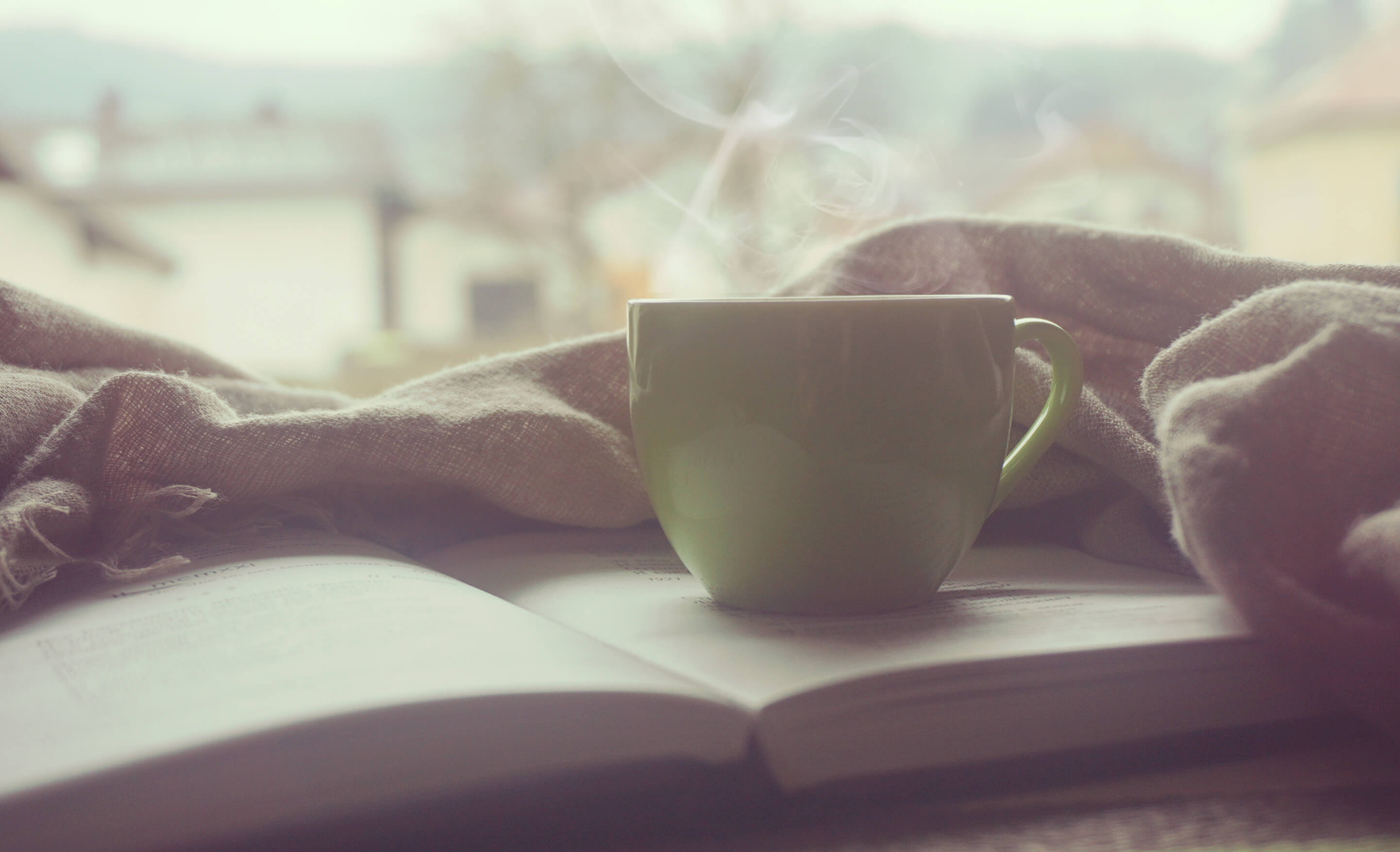 a good book and a cup of coffee