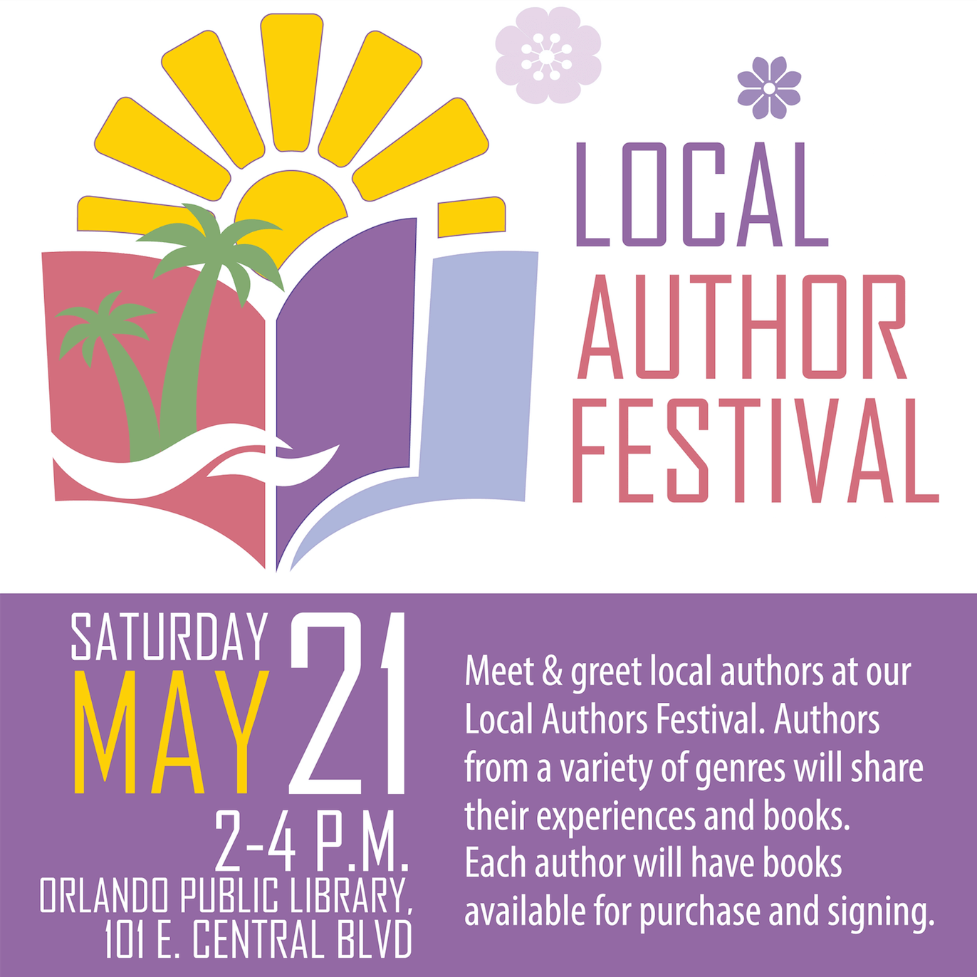 Local Author Festival at Orlando Public Library